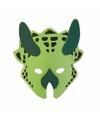 Groen dinosaurus triceratops masker 18cm