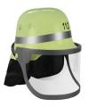 Groene brandweer helm