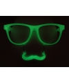 Groene snorbril glow in the dark