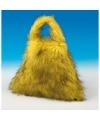 Grote pluche handtas geel