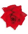 Haar clip met rode roos