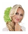Haarbloem lime dahlia met clip