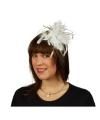 Haarkam met witte veren voor dames