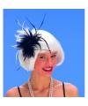 Haarkam met zwart witte veren voor dames