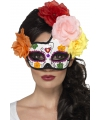 Halloween day of the dead oogmasker bloemen