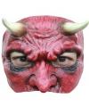 Halloween duivel masker half gezicht