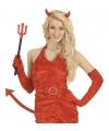 Halloween duivel set met pailletten 3 delig
