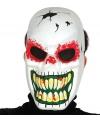 Halloween horror skelet masker met lange tanden