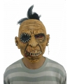 Halloween horror thema maskers man met dichtgenaaide mond