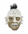 Halloween horror wit gezicht masker met oorbellen