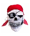 Halloween latex horror masker doodskop piraat