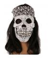 Halloween masker schedel met haarband en haar
