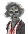 Halloween masker zombie met grijs haar