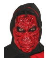 Halloween rood metallic skelet masker