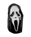 Halloween scream masker met zwarte kap
