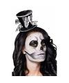 Halloween skeletten dames hoedje op tiara