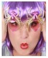 Halloween spinnenbril met licht