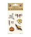 Halloween tattoos 6 stuks