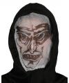 Halloween vampier capuchon masker voor volwassenen