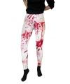 Halloween witte legging met bloedvlekken