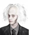 Halloween zombie pruik wit voor heren