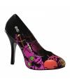 Halloween zombie pumps met roze print