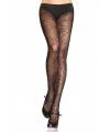Halloween zwarte kanten panty met spinnenweb print