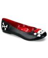 Halloween zwarte piraten ballerina schoenen