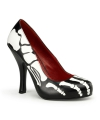 Halloween zwarte x ray pumps