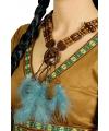 Halsketting met blauwe veren