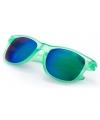 Hippe zonnebril groen met spiegelglazen