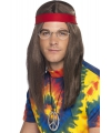 Hippie heren verkleed kit deluxe