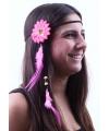 Hippie hoofdbandje roze