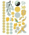 Japanse metallic plak tatoeages