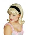 Jaren 60 pruik blond inclusief haarband
