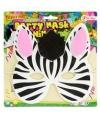 Kinder foam masker zebra