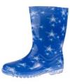 Kinder regenlaarzen met sterren blauw