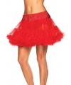 Korte rode petticoat voor dames