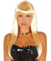 Lang blond haar pruik