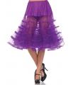 Lange fel paarse petticoat voor dames