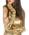 Lange gouden handschoenen dames