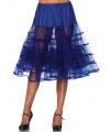 Lange kobalt blauwe petticoat voor dames