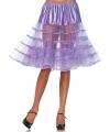 Lange lavendel paarse petticoat voor dames