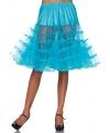 Lange turquoise petticoat voor dames