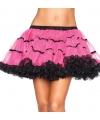 Leg avenue luxe petticoat fuchsia met zwart
