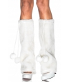 Leg avenue pluche witte beenwarmers