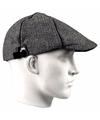 Linnen flat cap grijs voor heren