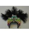 Luxe hoofdtooi met zwarte veren