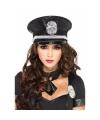 Luxe politie pet met pailletten