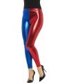 Metallic legging rood blauw voor dames
